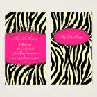 Trendy zebra print business card