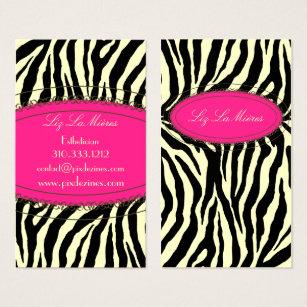 Zebra print business cards business card printing zazzle uk trendy zebra print business card colourmoves