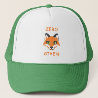 Trendy Zero Fox Given phrase Emoji Cartoon Trucker Hat