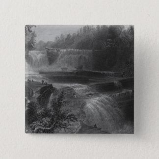 Trenton High Falls, 1838 15 Cm Square Badge