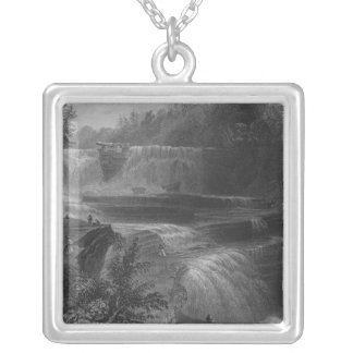 Trenton High Falls, 1838 Silver Plated Necklace