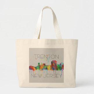 TRENTON, NEW JERSEY SKYLINE JUMBO TOTE BAG