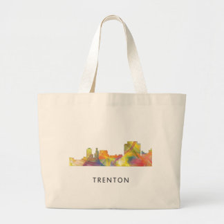 TRENTON, NEW JERSEY SKYLINE WB1 JUMBO TOTE BAG