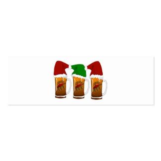 Tres Amigos Christmas Cerveza Pack Of Skinny Business Cards
