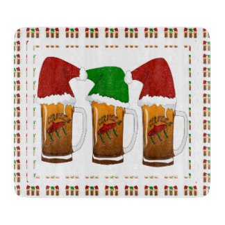 Tres Amigos Christmas Cerveza Cutting Boards