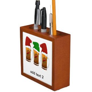 Tres Amigos Christmas Cerveza Pencil/Pen Holder