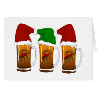 Tres Amigos Christmas Cerveza Greeting Card