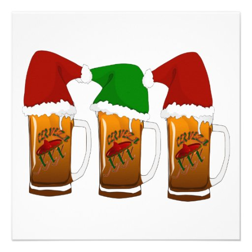 Tres Amigos Christmas Cerveza Personalized Announcement