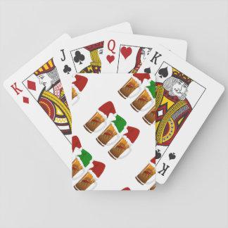 Tres Amigos Christmas Cerveza Playing Cards