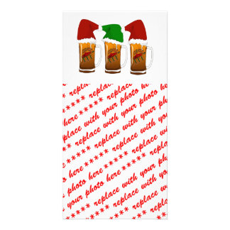 Tres Amigos Christmas Cerveza Photo Card Template