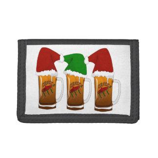 Tres Amigos Christmas Cerveza Tri-fold Wallets