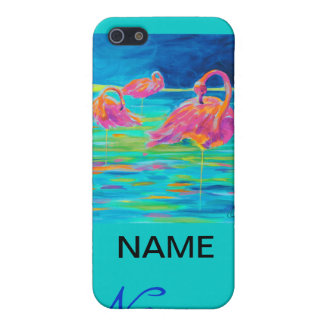 Tres Flamingos iphone case Case For The iPhone 5