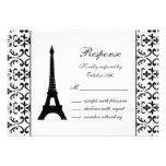 Tres Paris RSVP (white) Personalised Invitation