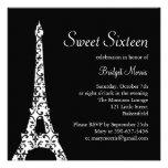 Tres Paris Sweet Sixteen Birthday Invitation
