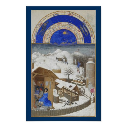 Très Riches Heures - February Print