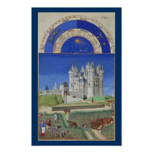 Très Riches Heures - September Print