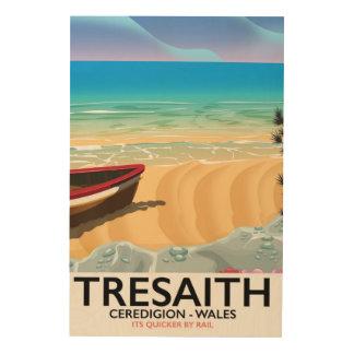 Tresaith, Ceredigion beach Wales seaside poster