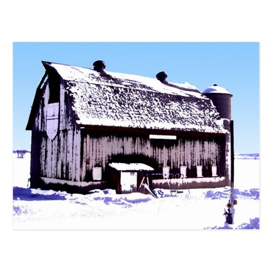 Trescher Barn- postcard. Postcard