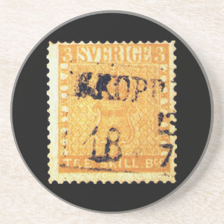 Treskilling Yellow of Sweden Sverige 3 Cent Stamp Coaster