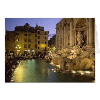 Trevi Fountain at night Rome Lazio Italy Card
