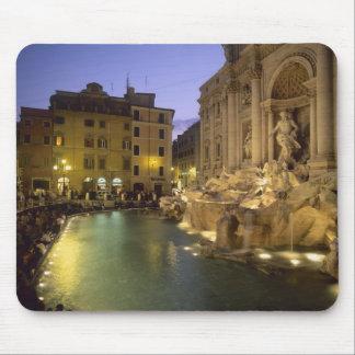 Trevi Fountain at night, Rome, Lazio, Italy Mousepads