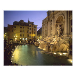 Trevi Fountain at night, Rome, Lazio, Italy Photo Print