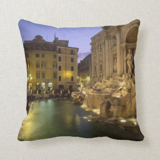 Trevi Fountain at night, Rome, Lazio, Italy Throw Pillow