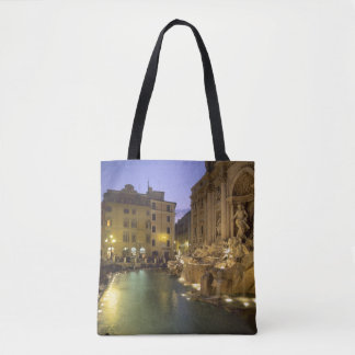 Trevi Fountain at night, Rome, Lazio, Italy Tote Bag