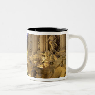 Trevi Fountain at night, Rome, Lazio, Italy Two-Tone Coffee Mug