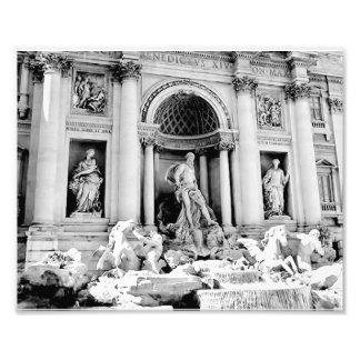 Trevi Fountain, Black and White Photo