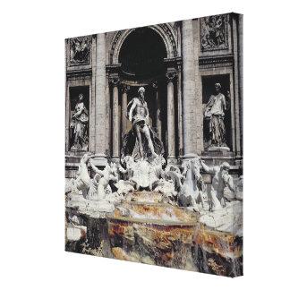 Trevi Fountain, built 1732-62 Canvas Print