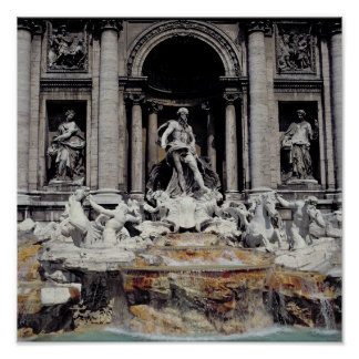 Trevi Fountain, built 1732-62 Poster