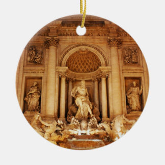 Trevi fountain christmas ornament