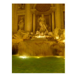 Trevi Fountain evening Postcard