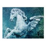 Trevi Fountain Horse Postcard