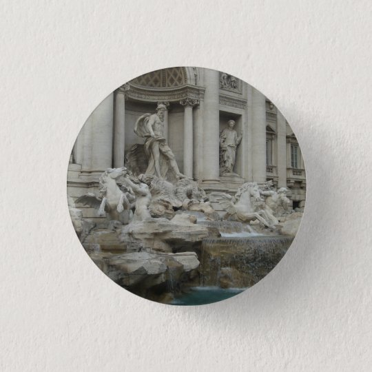 Trevi Fountain in Rome 3 Cm Round Badge