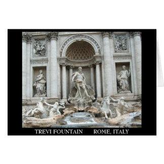 Trevi Fountain in Rome, Italy Card