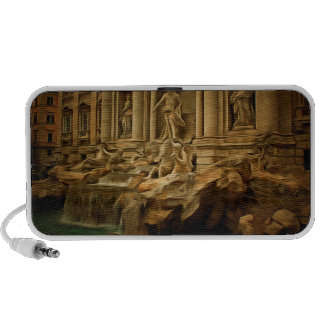 Trevi fountain painting Rome iPod Speaker