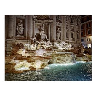 Trevi Fountain  -  Roma, Italia Postcard