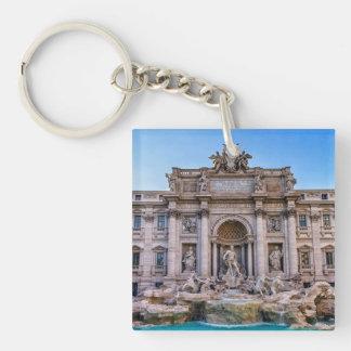 Trevi fountain, Roma, Italy Double-Sided Square Acrylic Key Ring