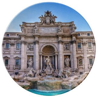 Trevi fountain, Roma, Italy Plate