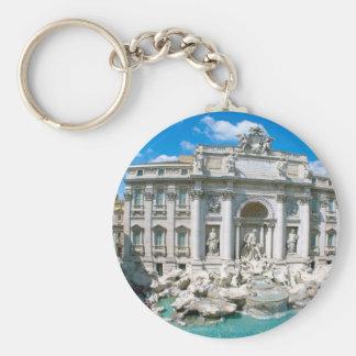 Trevi-Fountain-Rome-Italy-[kan.k].JPG Basic Round Button Key Ring
