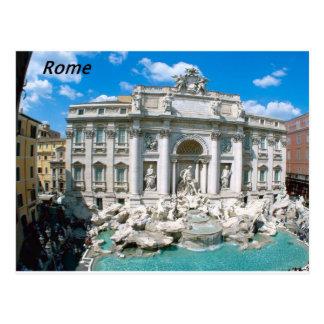 Trevi-Fountain-Rome-Italy- kan k JPG Postcard