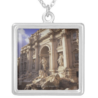 Trevi Fountain, Rome, Italy Silver Plated Necklace