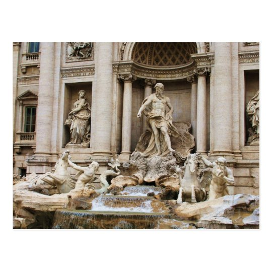 Trevi Fountain Rome Italy Travel Photo Postcard