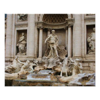 Trevi Fountain Rome Italy travel photo Poster