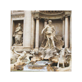 Trevi Fountain Rome Italy travel photo Stretched Canvas Prints