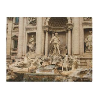 Trevi Fountain Rome Italy travel photo Wood Print