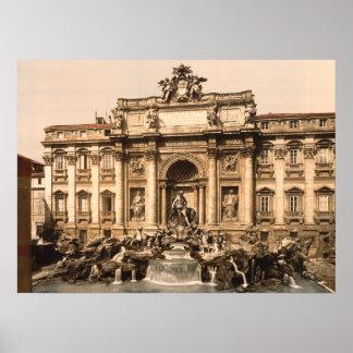 Trevi Fountain Rome Lazio Italy Poster