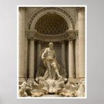 Trevi fountain , Rome Poster